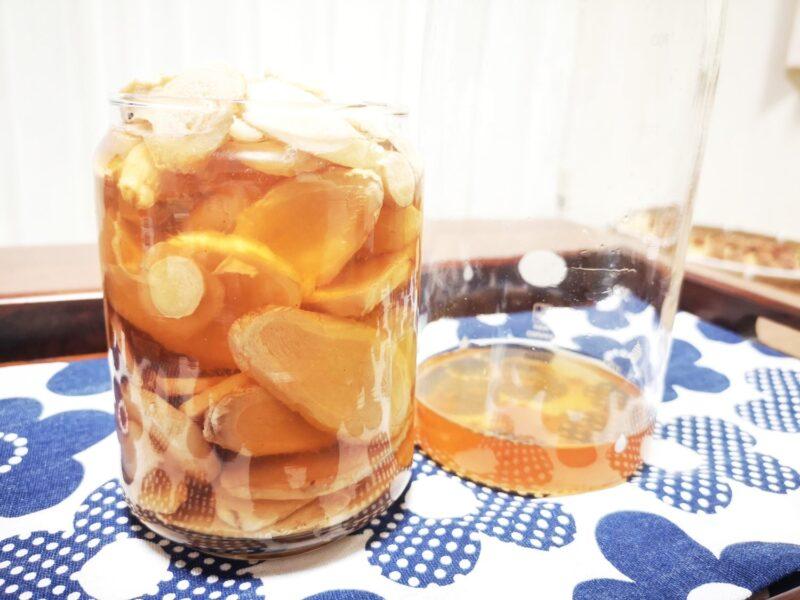 新生姜の白梅酢漬け