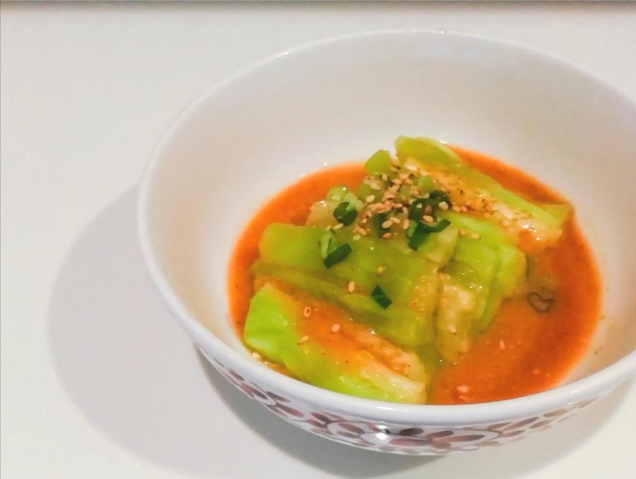 【梅酒レシピ】蒸し茄子の梅味噌ダレかけ