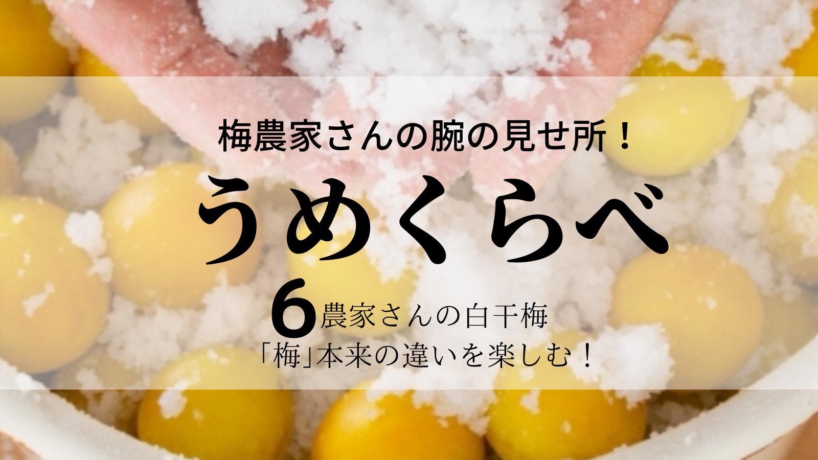梅農家さんの腕の見せ所!「梅」本来の味、違いを楽しむ「うめくらべ」 白干梅6種類の紹介