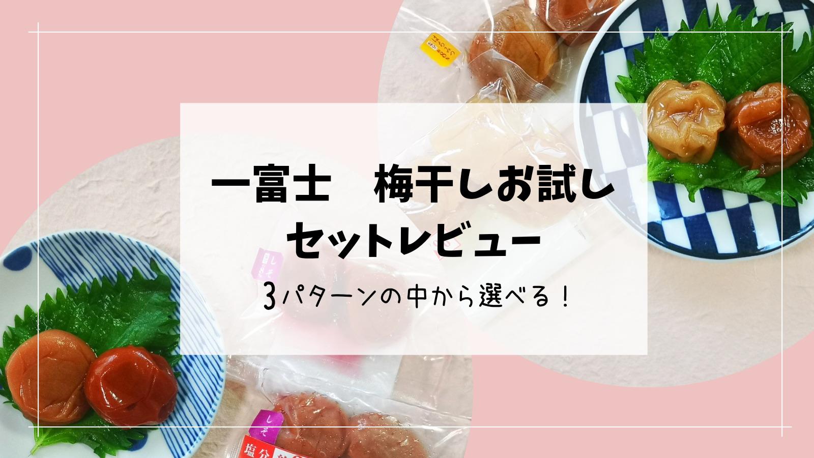 【一富士】3種類の中から好みのセットを選べる!梅干しお試しレポート
