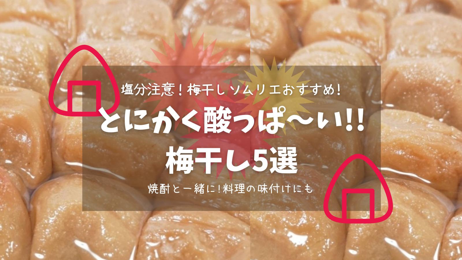 【塩分注意!】梅干しソムリエおすすめ!とにかく酸っぱい梅干し5選